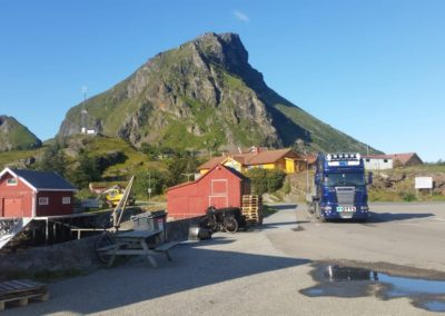 Levering i Lovund i Nordland.